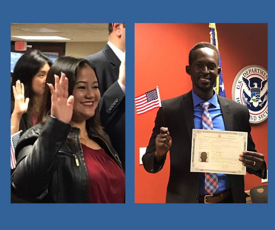 two people becoming citizens