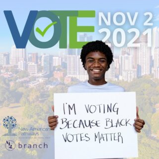 Early voting is officially underway in Georgia and we want to make sure your voice is heard this election! 📢🗳We are so proud to be partnering with @branchpolitics to make sure you have all the information you need to feel confident going into the voting booth! Find voter resources or look up your ballot at the link in our bio.  . . . . #vote #earlyvoting #newamericans