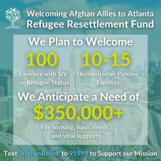 Our resettlement program is growing and we need your continued support! We have launched a $350,000 Refugee Resettlement Fund to provide rent subsidies, basic needs, and essential support to newly arriving individuals and families. Please join us by texting 'AfghanRelief' to 91999.   #refugees #resettlement #afghanistan