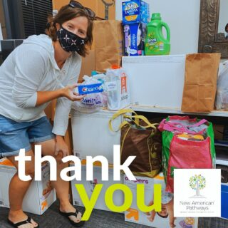 Thank you so much to Emily, the Moms Network and Carriage Lakes Homeowners Association for their recent donation of hygiene items and basic needs. We are so grateful to have your support as we welcome new families to Georgia!