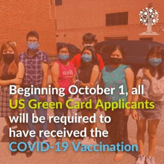 Beginning October 1, 2021, all United States green card applicants will be required to be vaccinated against COVID-19. Contact us for assistance with vaccinations or visit our partners at @core_georgia  . . . . #ɢᴇᴛᴠᴀᴄᴄɪɴᴀᴛᴇᴅ #greencard