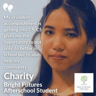 Charity was born in Burma, where education was limited. After coming to the US she started receiving better education compared to both Burma and Malaysia. One of her proudest accomplishments includes getting into C5, a leadership program where everything they do is to improve leadership skills and improve their community. Charity's favorite memories from afterschool were the field trips in Atlanta which included visiting the aquarium, zoo, and several museums.  Read more from students on our blog!