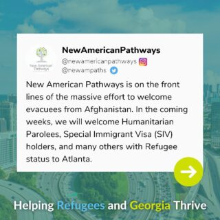 Over the next several weeks, New American Pathways will welcome many individuals and families from Afghanistan. Gifts to our Refugee Resettlement Fund will allow us to provide vital support and basic needs to new arrivals.   Text 'AfghanRelief' to 91999 to support our mission! #refugees #siv