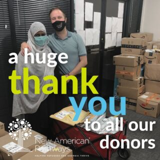 Thank you so much to all of those who are supporting us as we welcome Afghan SIVs and refugee families to Atlanta. We are blown away by all of the generous donations we are receiving! New AP is so grateful to have the community join us in helping refugees and Georgia thrive.