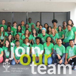 The New AP family is growing! We are currently hiring team members passionate about serving refugee and immigrant communities and interested in becoming part of a diverse team committed to helping refugees and Georgia thrive! Find available job opportunities at the link in our bio!  . . . . . #refugees #refugeeswelcome #immigrants #nowhiring #joinourteam