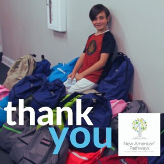 Thank you so much to Ethan from Ahavath Achim Synagogue for collecting school supplies, assembling backpacks, and writing notes to students as they begin a new school year! Congratulations on your upcoming bar mitzvah from the New AP family!