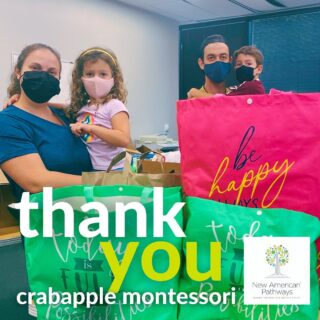 A huge thank you goes out to @crabapplemontessori for their school-wide hygiene kit supply drive! Thank you Crabapple Montessori School for supporting us in helping refugees and Georgia thrive!
